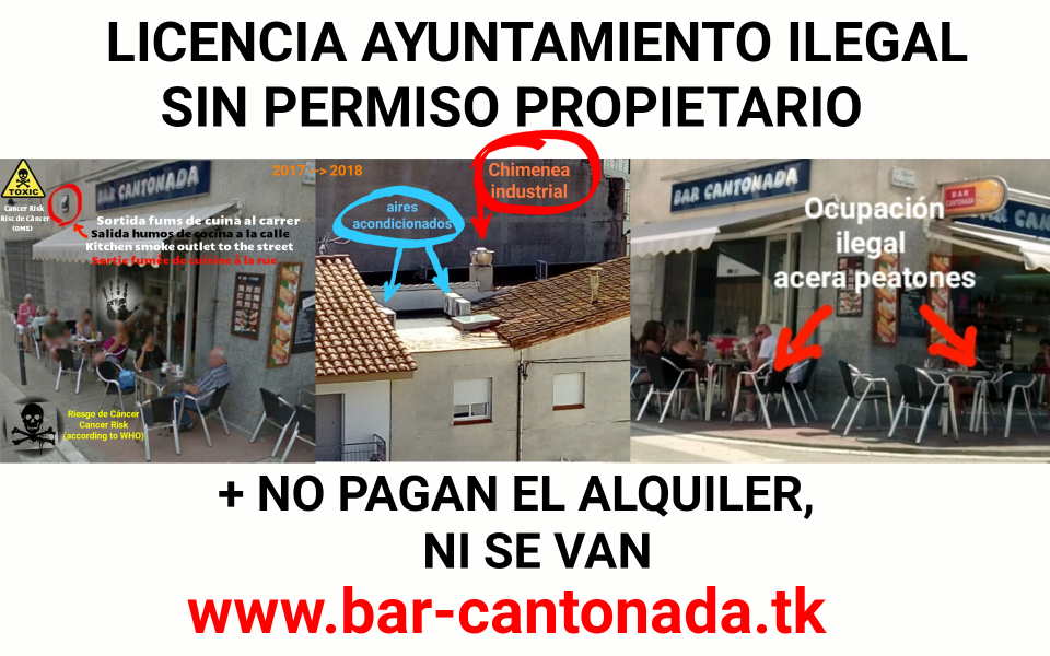 Bar cantonada estartit no pagan